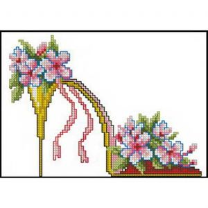 Cross stitch kit, 16 x 12cm, 14 count (squares/inch), Intermediate, Other flower, Mordern (CSY0569)